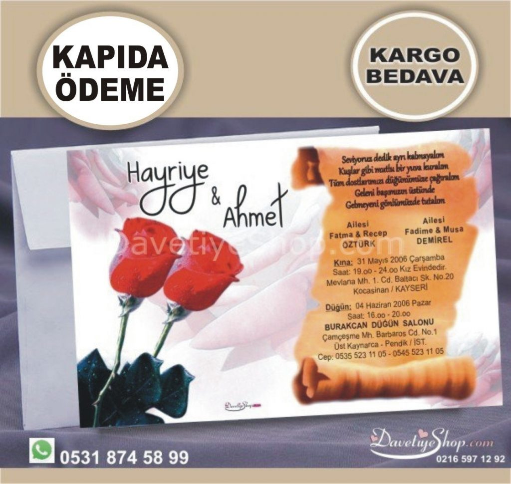 Davetiye K030